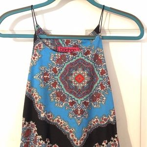 Tight fitting Bohemian Multicolored Mini Dress